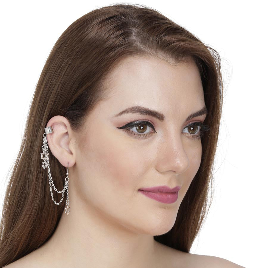 Fayon Fashion Statement Dancing Starts Ear Cuff For Single Ear