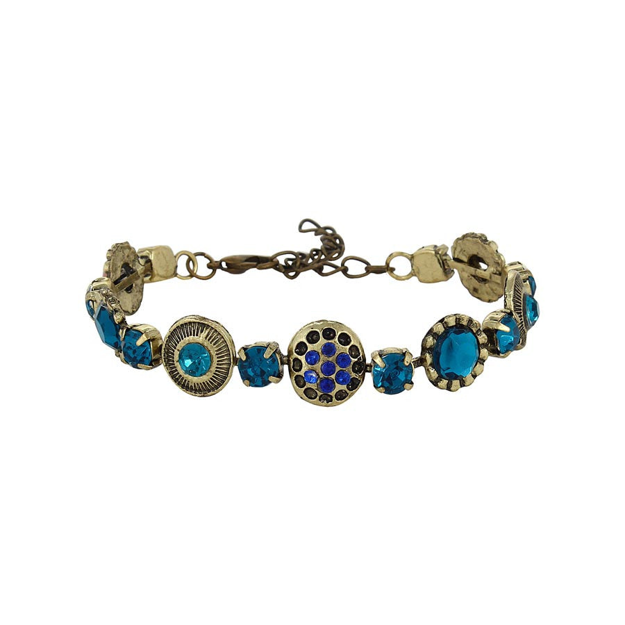 Fayon Fabulous Colourful Crystals Adjustable  Bracelet