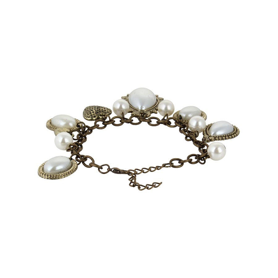 Fayon Weekend Party Vintage Pearl Drops Chain Bracelet