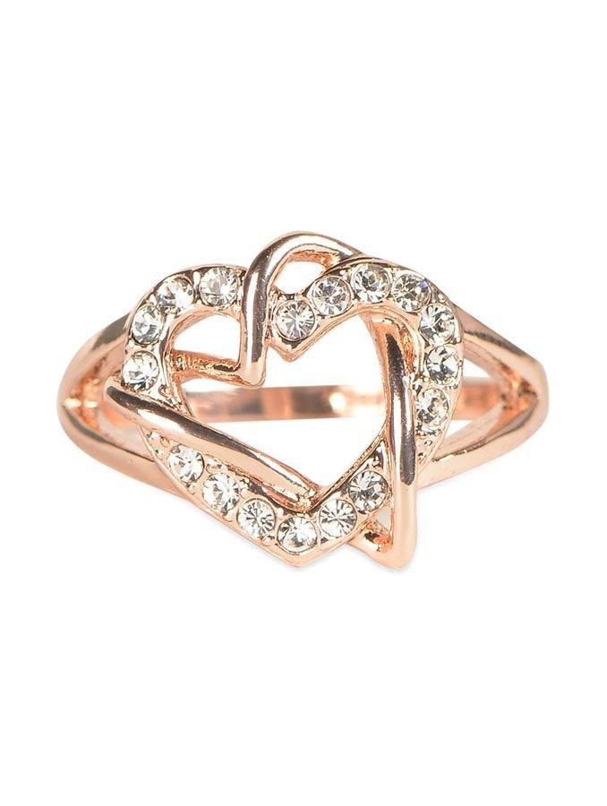 Gold Plated Lady Heart Love Ring