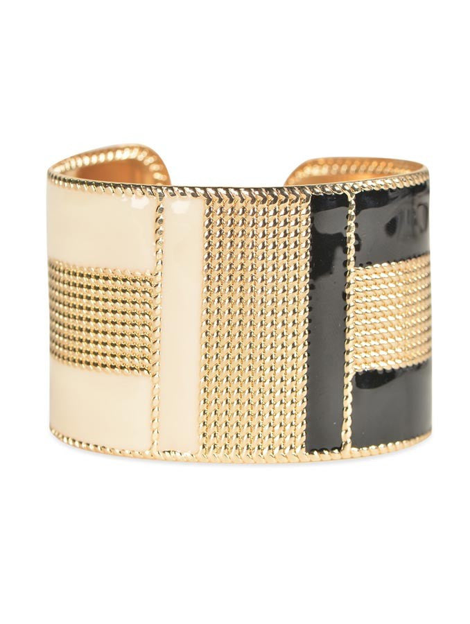 Exaggerated Gold Color with Colorful Enamel Bracelet