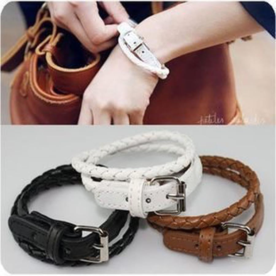 Fashion Buckle Leather Bracelet