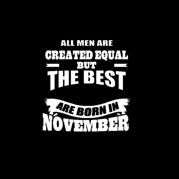 Awesome Tees November Born All Men Black Cotton T-Shirt