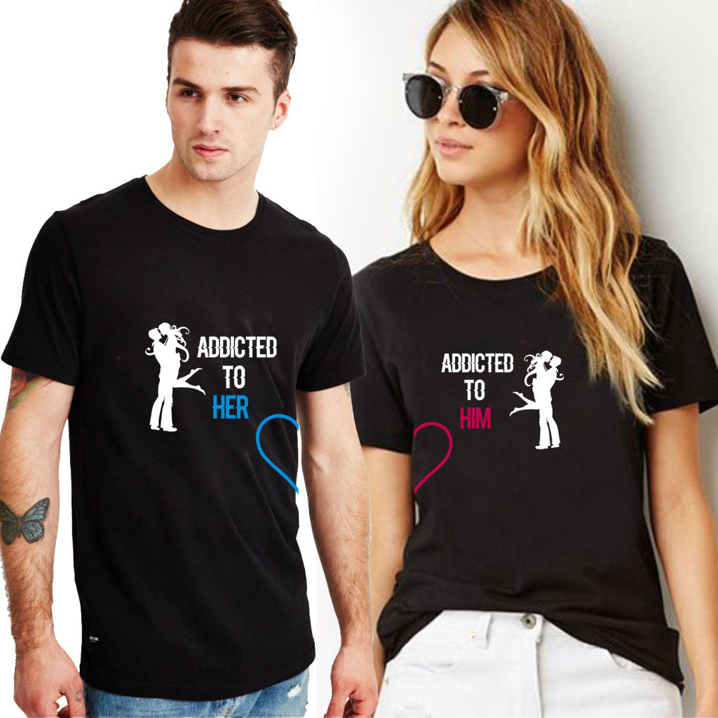 Fashion Bar Addicted Couple T-shirt