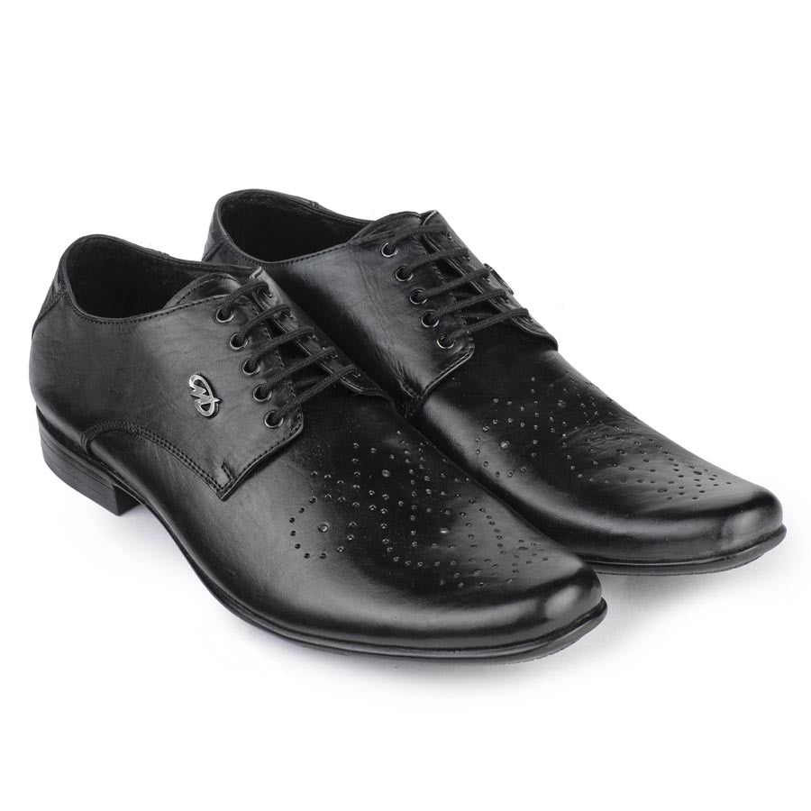 Massimo Italiano Black Formal Leather Shoes