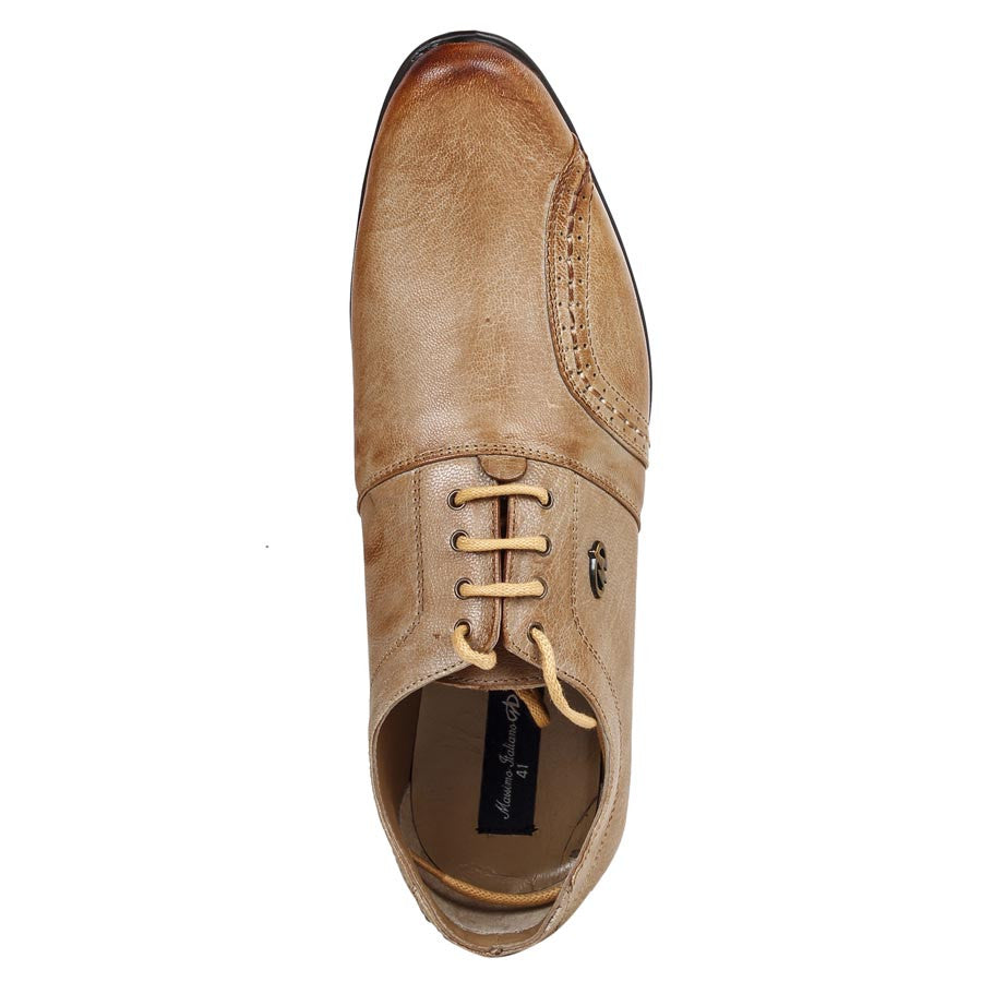 Massimo Italiano Tan Formal Leather Men's Shoes