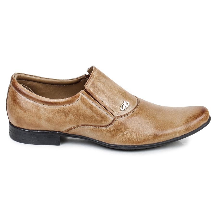Massimo Italiano Tan Formal Leather Shoes