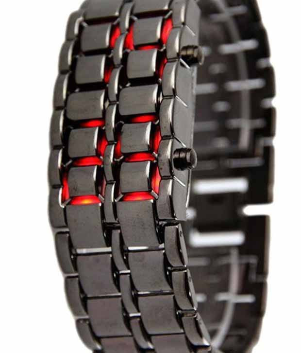 Swadesistuff Chain Red Led Watch for Men