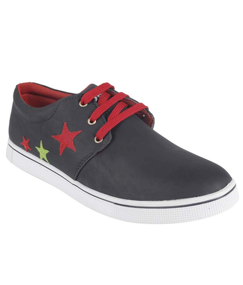 Choice4u Black Red Canvas Shoes