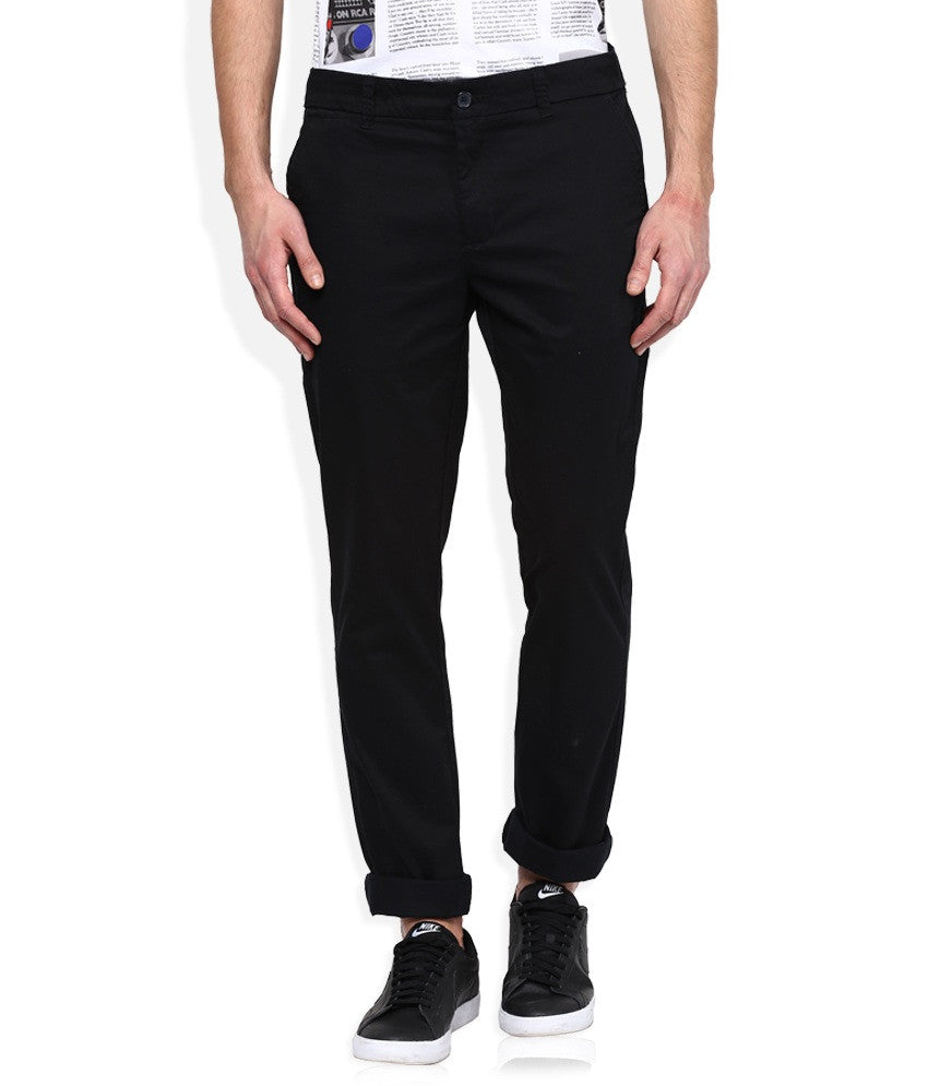 Boysstuff CORBIN Men's Cotton Black Trousers