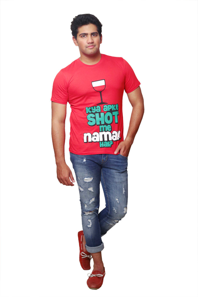 Checkkmate SHOT ME NAMAK Cotton T-shirt