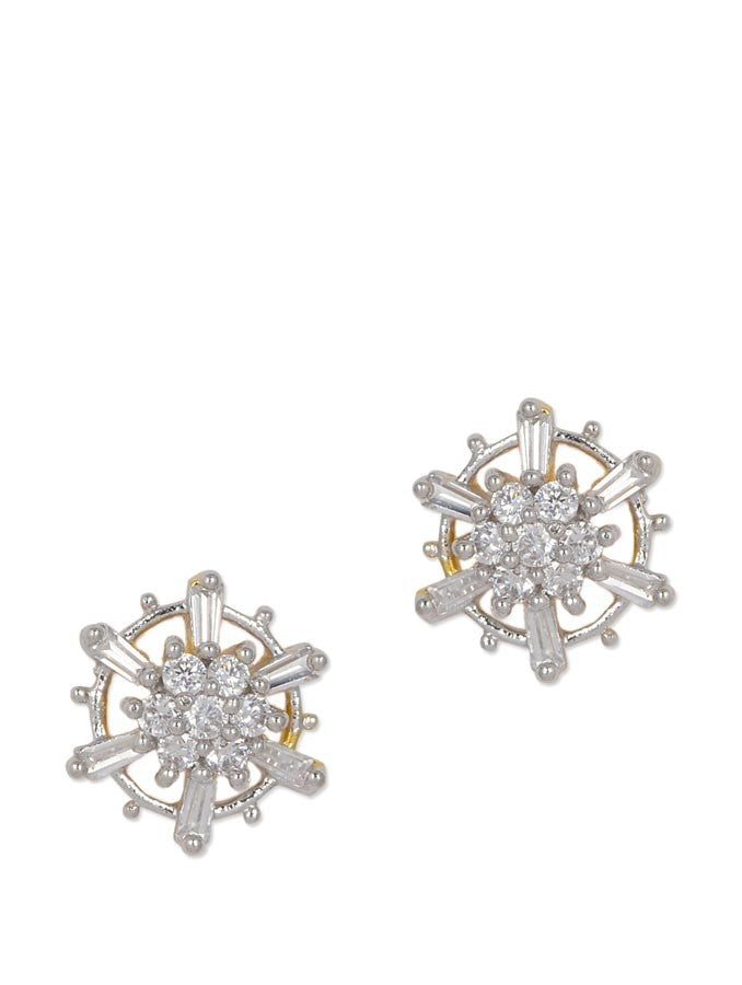 Gorgeous Gold Plated Stud AD Earring
