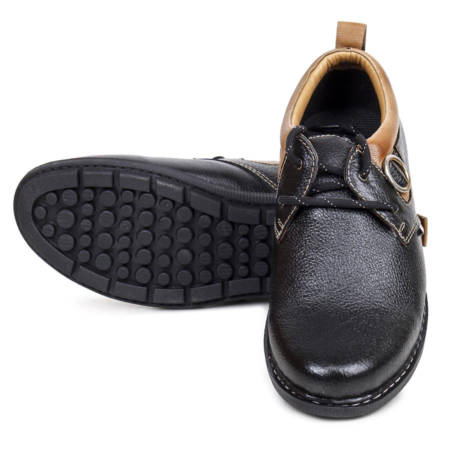 Massimo Italiano Men's Black Casual Shoes
