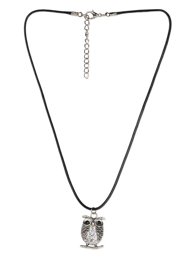 Spakling Crystal Owl Necklace