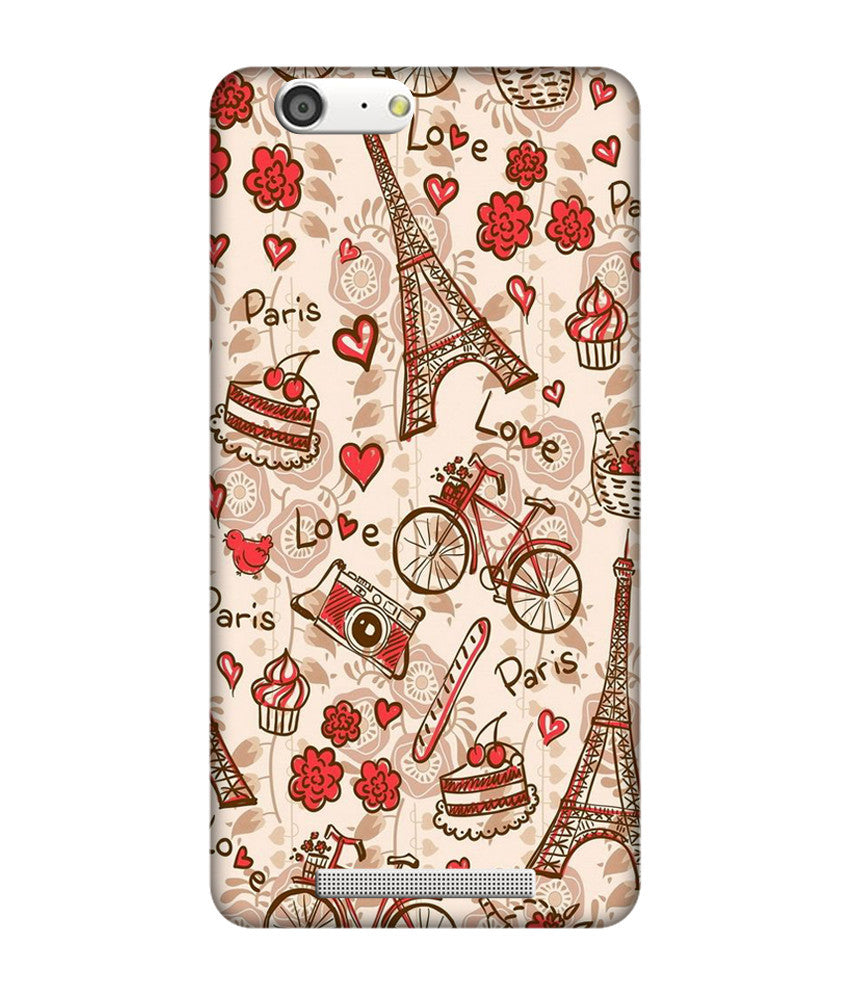 Creatives 3D Paris Love Gionee Case