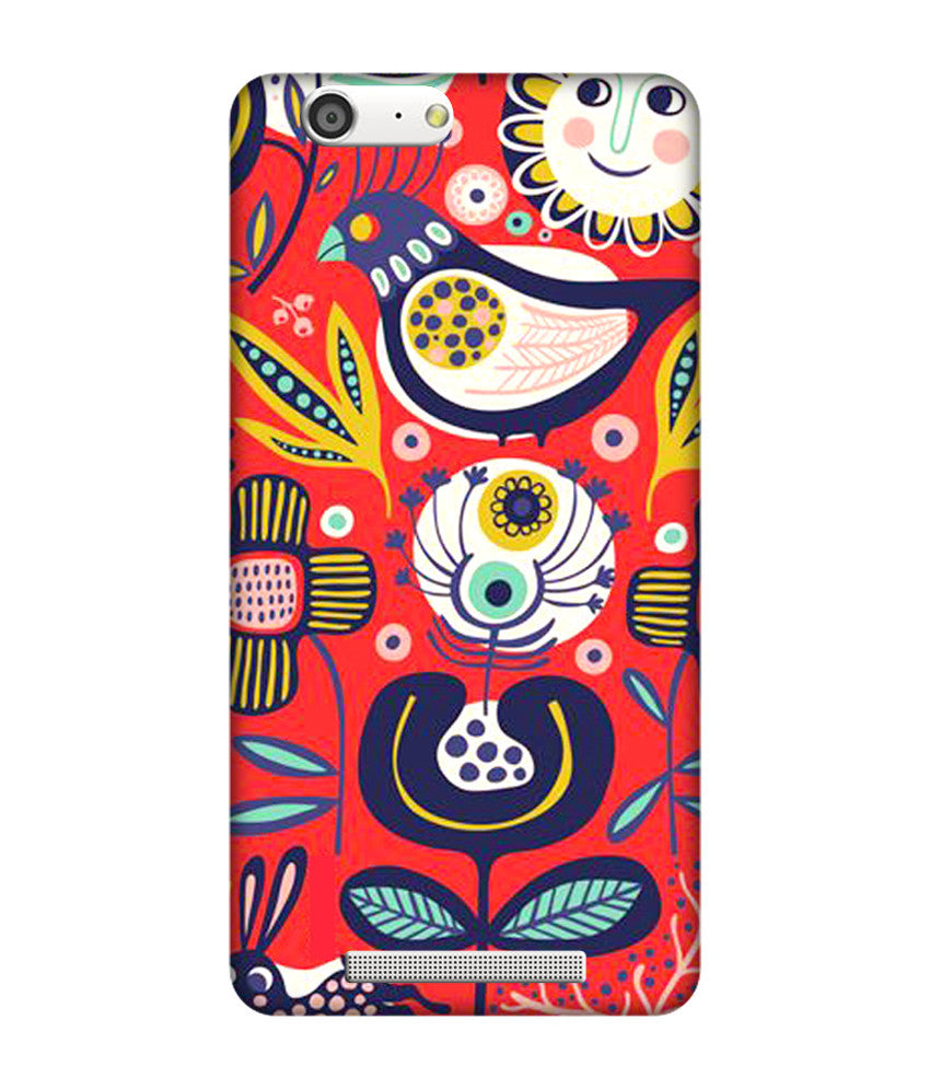 Creatives 3D Multicolor Patterns & Ethnic Gionee Case