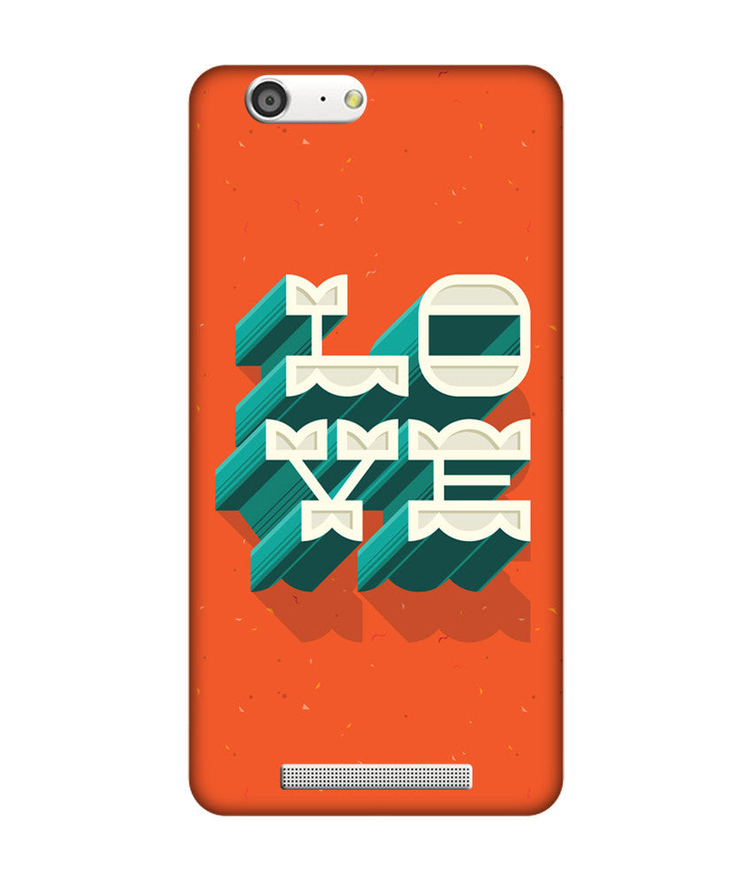 Creatives 3D Love Gionee case