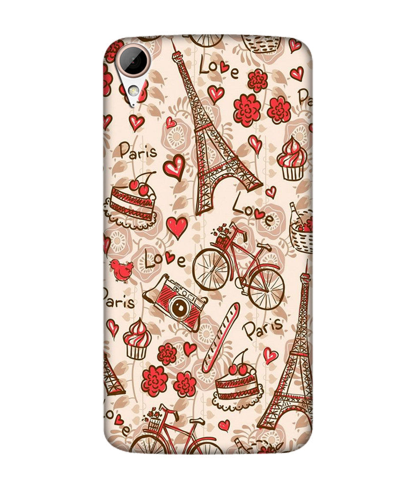 Creatives 3D Paris Love Htc  Case