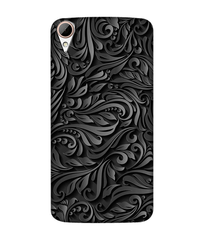 Creatives 3D Beautiful Black Pattern Htc  Case