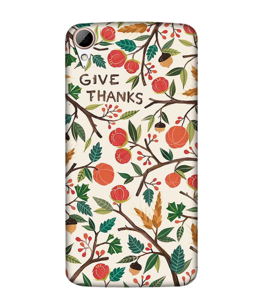 Creatives 3D Give Thanks Pattern Htc  Case