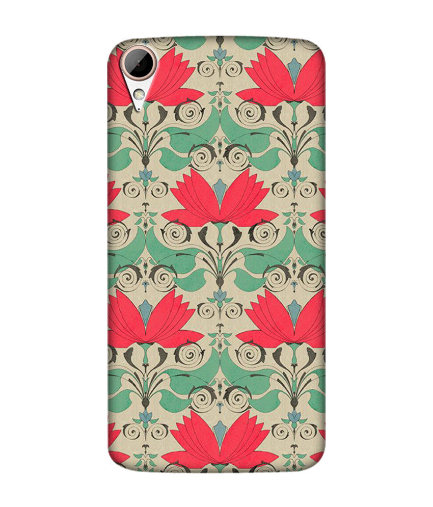 Creatives 3D Geometrical Flower Pattern Htc  Case