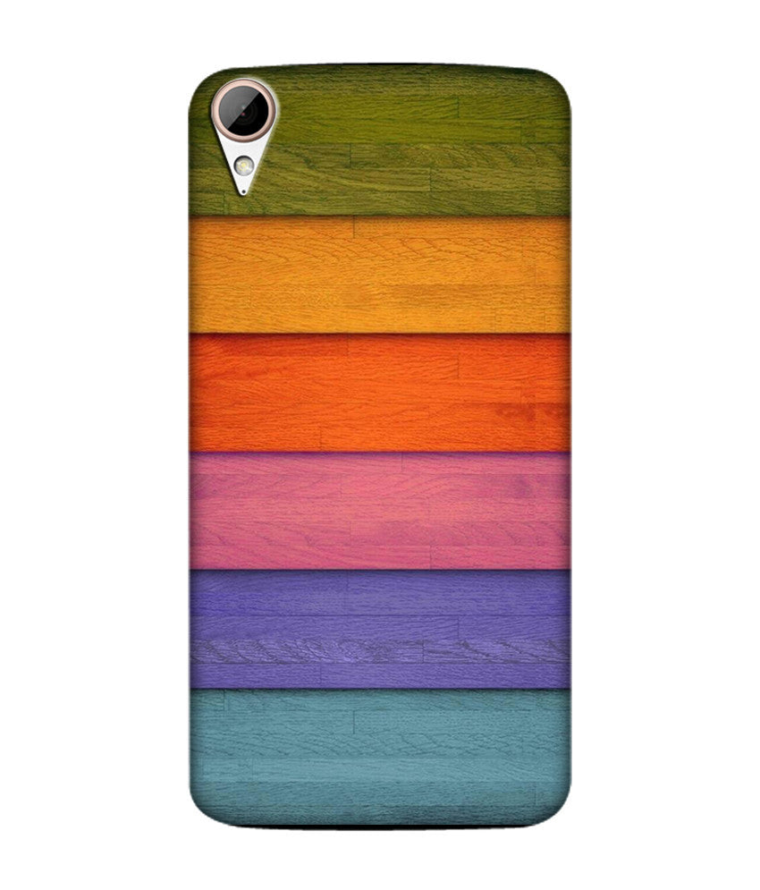 Creatives 3D Multicolor Wood Pattern Htc  Case