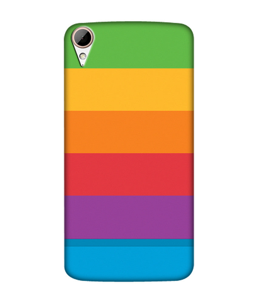 Creatives 3D Multicolor Layer Pattern Htc  Case