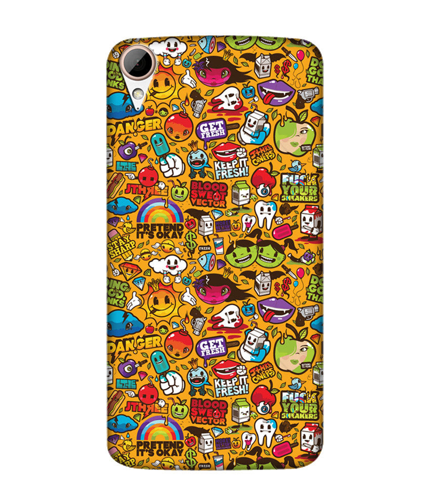 Creatives 3D Multi Quotes Htc  Case