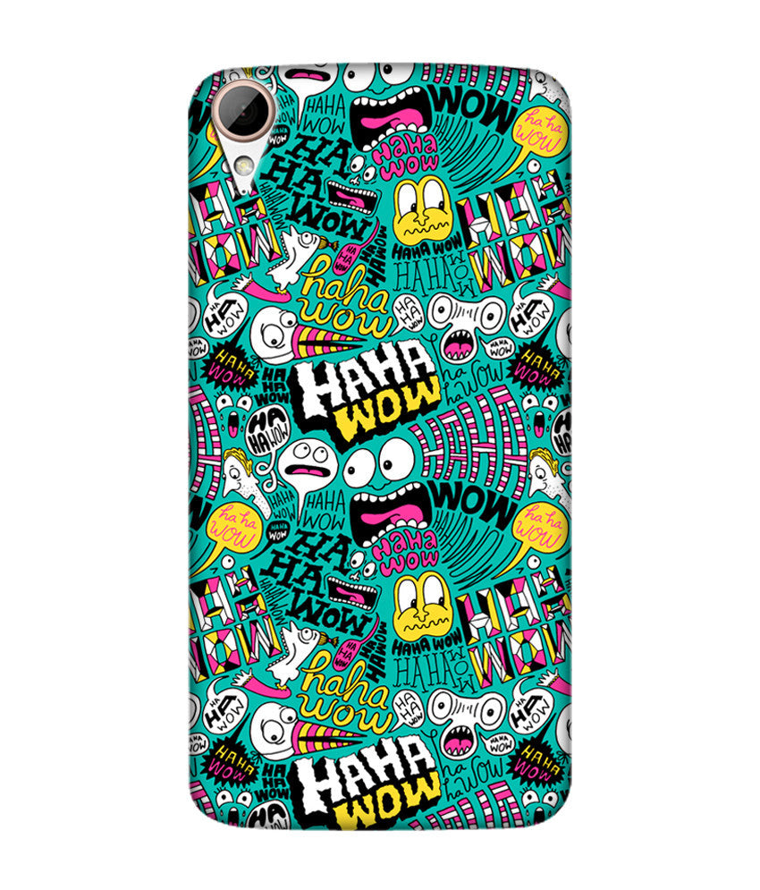 Creatives 3D Different Comic Pattern Htc  Case