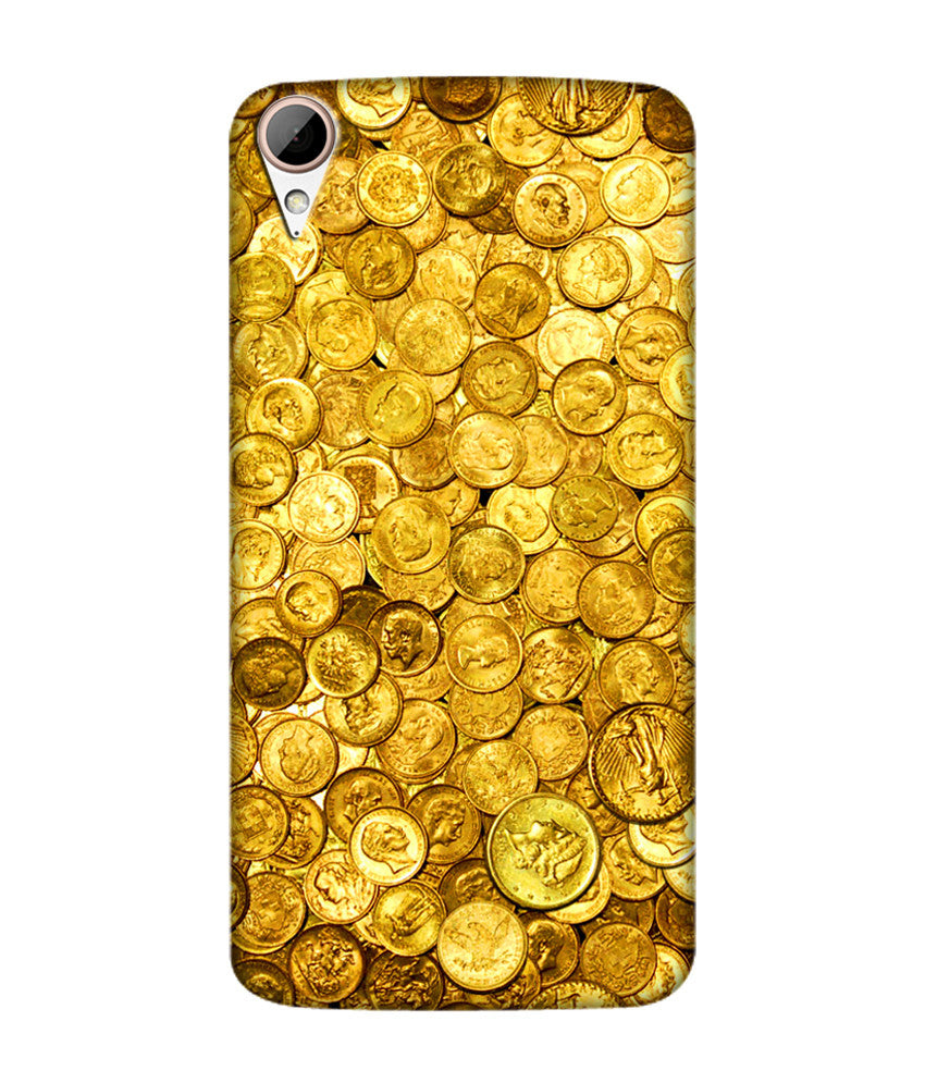 Creatives 3D Coin Print Htc  Case