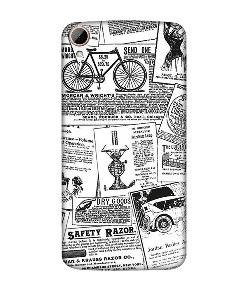 Creatives 3D Newspaper Print Pattern Htc  Case