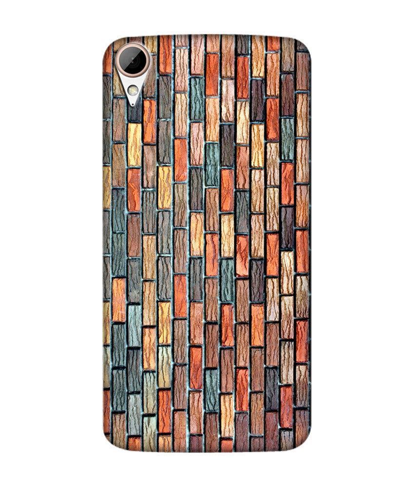 Creatives 3D Brick Pattern Htc  Case