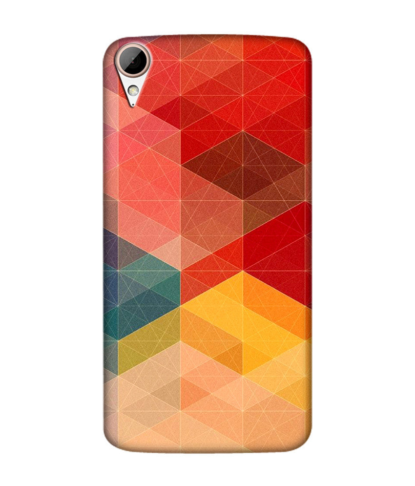 Creatives 3D Multicolor Geometrical Pattern Htc  Case