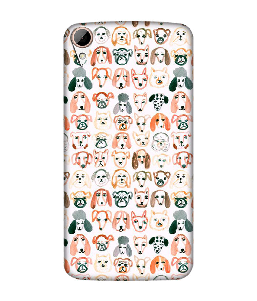 Creatives 3D Dogs Pattern Htc  Case