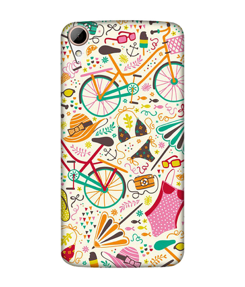 Creatives 3D Cycle Pattern Htc  Case