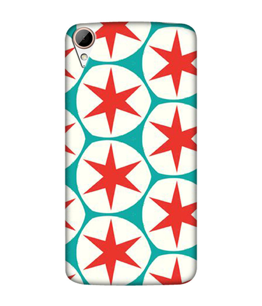 Creatives 3D Red Stars Htc  Case