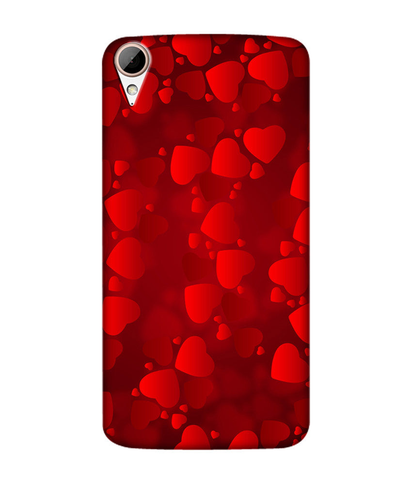 Creatives 3D Heart Shape Pattern Htc  Case