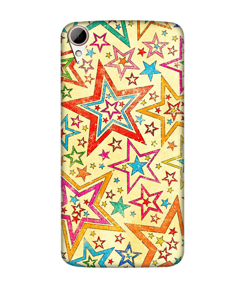 Creatives 3D Star Pattern Htc  Case