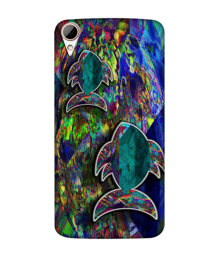 Creatives 3D Fish Pattern Htc  Case