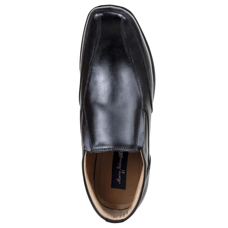 Massimo Italiano Black Shoes For Men