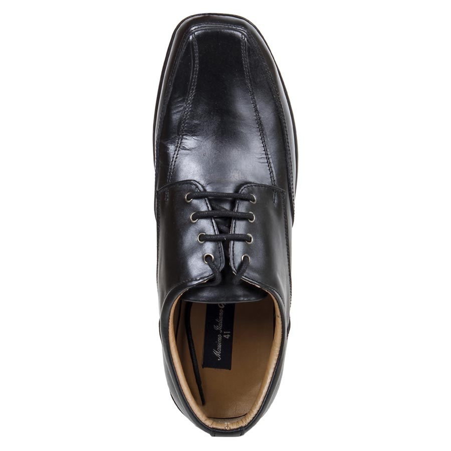 Massimo Italiano Stylish Black Leather Shoes