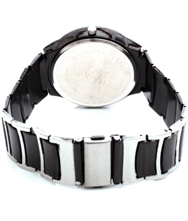IIK Stylish Black and silver Analog Watch for Men