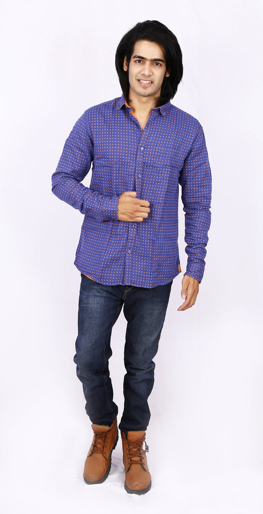 Taka Apparels Navy blue Casual Shirt
