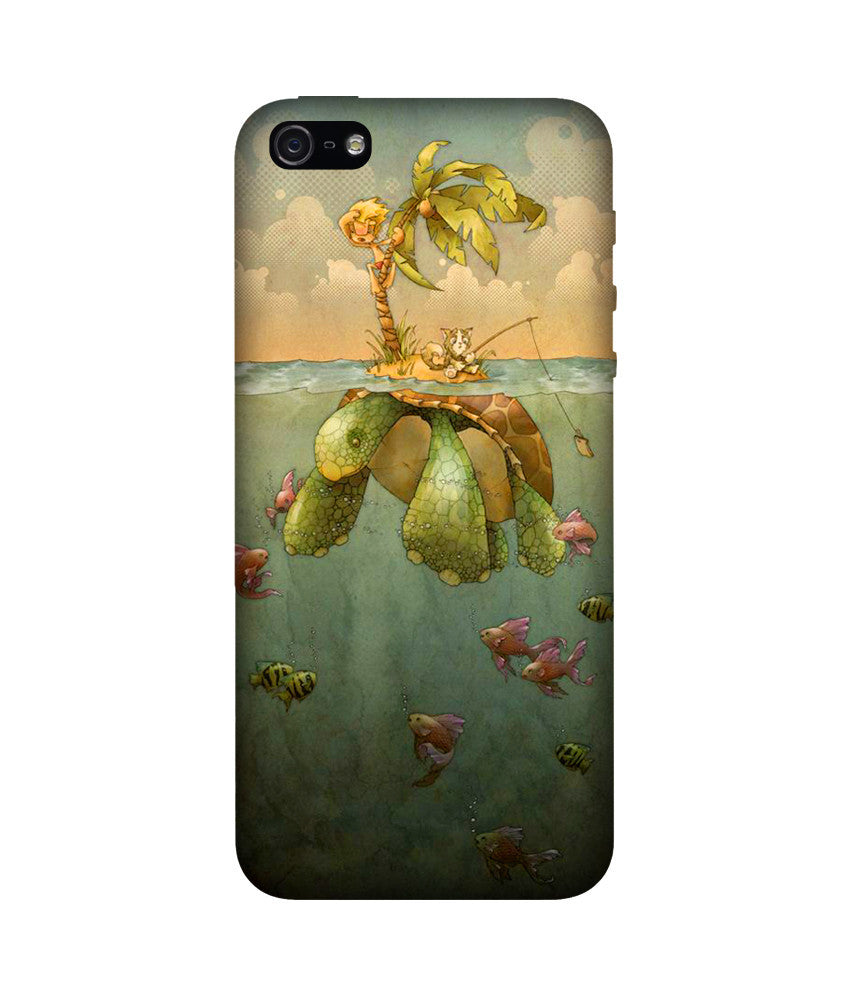 Creatives 3D Turtle Island Iphone Case