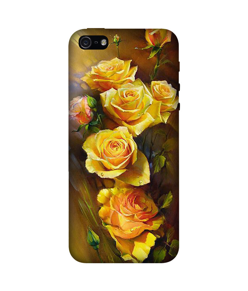 Creatives 3D Yellow Roses Iphone Case