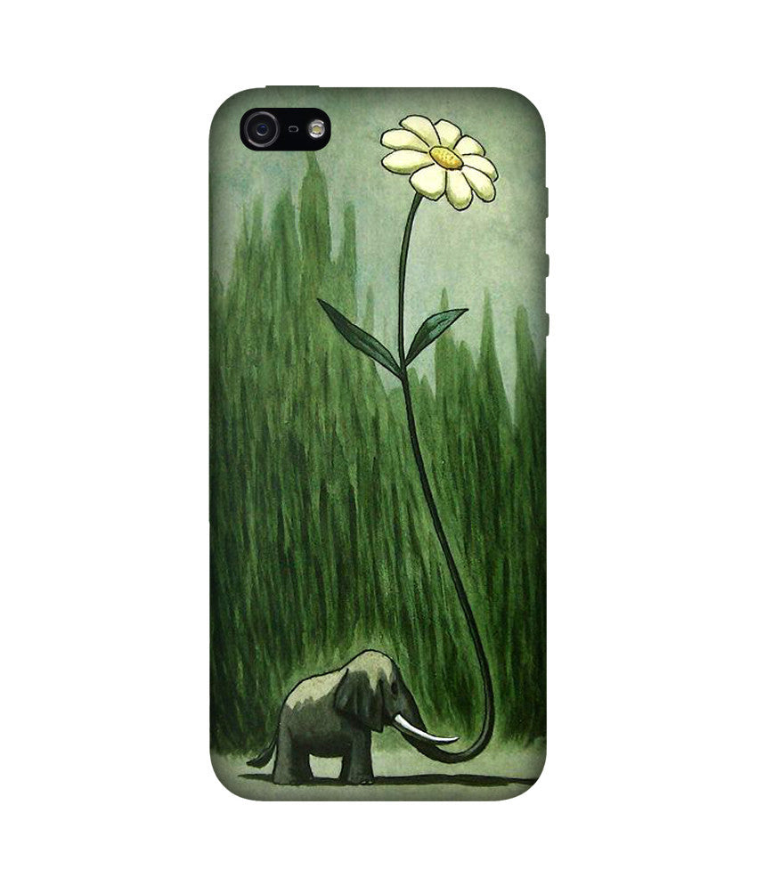 Creatives 3D Elephant & Flower Iphone Case