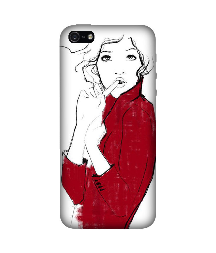Creatives 3D Girl Illustration Iphone Case