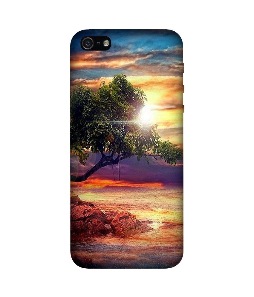 Creatives 3D Tree Sunset Iphone Case