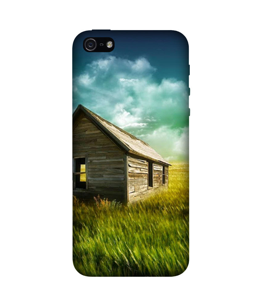 Creatives 3D Hut and Fields Iphone Case