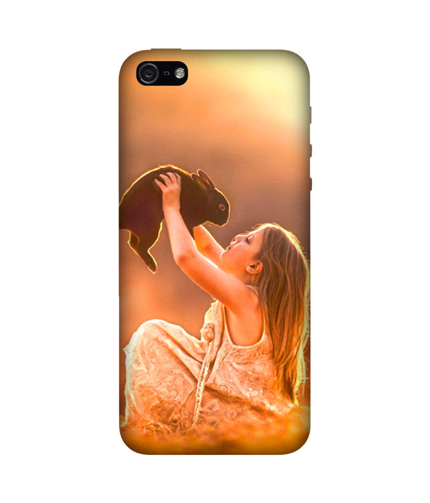 Creatives 3D Beautiful Girl With Rabbit Iphone Case